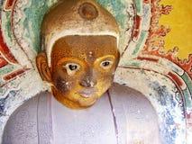 被风化的菩萨在山西中国 免版税库存照片