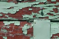 被风化的董事会域绿色红色文本 库存照片