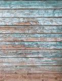 被风化的蓝色木背景纹理 库存照片