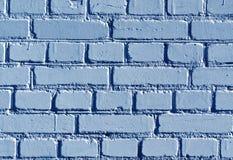 被风化的蓝色颜色砖墙样式 免版税库存照片