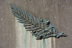 被风化的金属棕榈叶 图库摄影