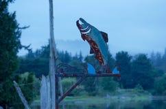 被风化的钢三文鱼 库存照片