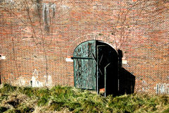 被风化的门墙壁 免版税库存照片