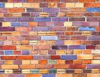 被风化的难看的东西红砖墙壁当背景纹理 免版税库存照片