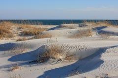 被风吹的沙丘 库存图片