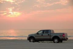 被驱动的海滩 库存照片
