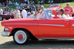 被驾驶的经典Edsel 免版税库存照片