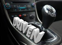 被驾驶的3d词使换中档最快速度志向态度 库存照片