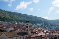 被围住的市Dubrovnic在克罗地亚欧洲 杜布罗夫尼克起绰号亚得里亚的`珍珠 免版税库存图片