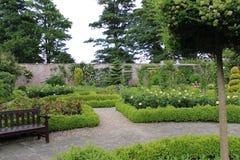 被围住的玫瑰园在约克夏,英国 库存图片