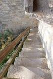 从被围住的镇的石楼梯 免版税图库摄影