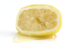 被紧压的柠檬 免版税库存照片