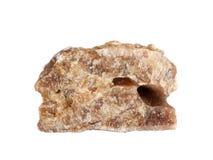 被结合的flowstone方解石大理石石华自然样品,隔绝在白色背景 免版税库存图片