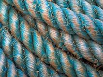 被紧固的绳索船 免版税库存图片