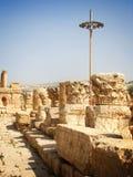 被破坏的专栏,杰拉什,约旦 免版税库存照片