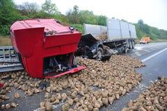 被破坏的卡车 库存照片
