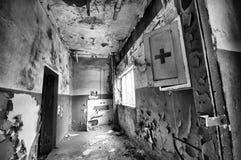 被破坏的卫生间 库存照片