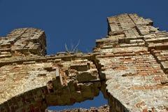 被破坏的古老大厦 库存图片
