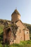 被破坏的古老Surb Karapet教会 库存照片