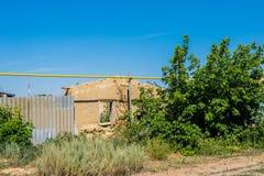 被破坏的和被放弃的房子 库存照片