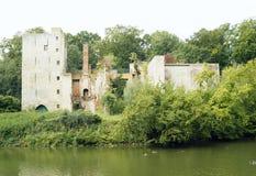 被破坏的城堡在赫林贝亨 免版税库存照片