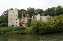 被破坏的城堡在赫林贝亨 免版税库存图片