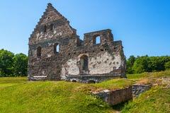 被破坏的城堡老 免版税库存图片