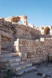 被破坏的城堡Shobak 库存照片