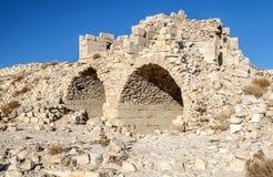 被破坏的城堡Shobak 库存图片