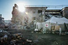 被破坏的城市 库存照片