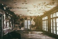 被破坏的大厅 库存照片
