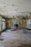 被破坏的大厅 库存图片