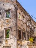 被破坏的大厦在Kerkyra 免版税图库摄影