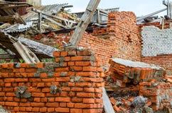 被破坏的大厦 库存照片