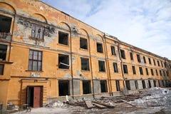 被破坏的大厦 免版税图库摄影