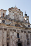 被破坏的大教堂中世纪 免版税库存照片