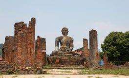 被破坏的寺庙-老挝 库存图片