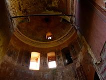 被破坏的寺庙 库存照片