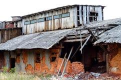 被破坏的工厂 库存图片