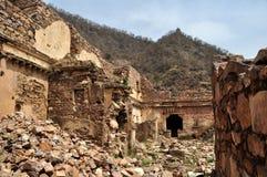 被破坏的市Bhangarh 图库摄影
