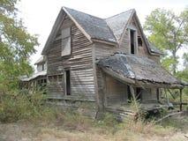 被破坏的房子在得克萨斯 免版税图库摄影