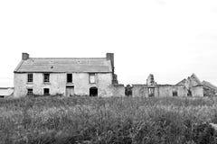 被破坏的房子老 图库摄影