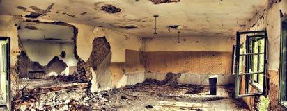 被破坏的房子细节 库存图片