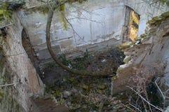 被破坏的房子细节 免版税图库摄影
