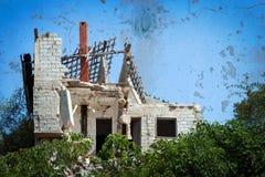 被破坏的房子 免版税库存图片