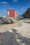 被破坏的海滨别墅Bathsheba巴巴多斯 免版税库存照片