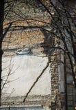 被破坏的老大厦 免版税库存照片
