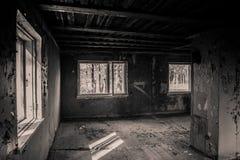 被破坏的老室 免版税库存照片