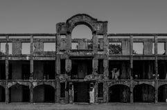 被破坏的Building_01 库存图片