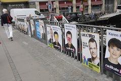 被破坏的DENMARK_eu海报 免版税库存照片